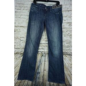 Miss Me Cross Crystal Boot Cut Jeans